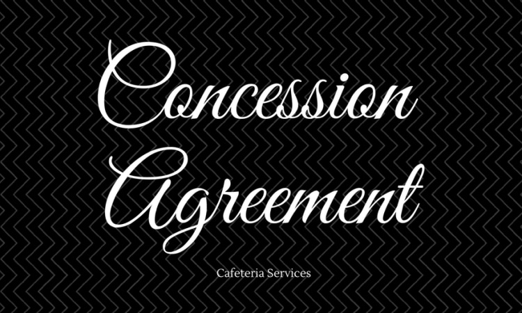 Concession Agreement For Operation Of Cafeteria Services Us