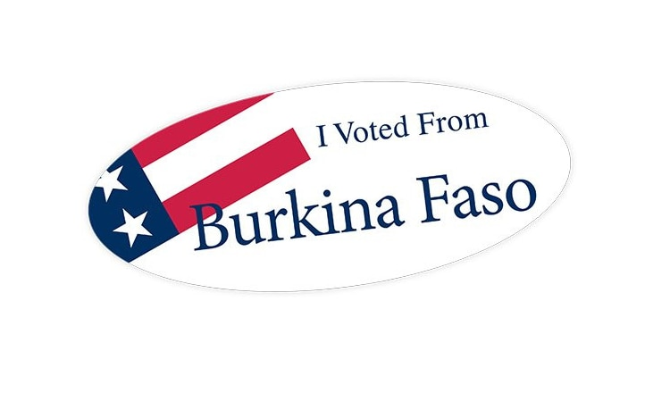 I Voted From Burkina Faso Flag